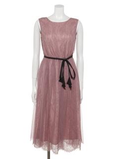 シアーレースシャーリングドレス