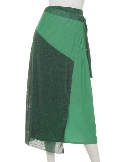 ラメラップ風スカート