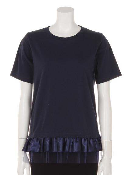 Entrechat (アントルシャ) Entrechat裾フリルTシャツ ネイビー
