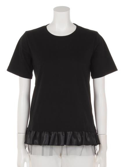 Entrechat (アントルシャ) Entrechat裾フリルTシャツ ブラック