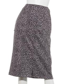 スェードタッチ アウトポケットツキナロータイトスカート