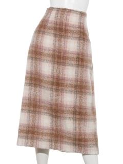 シャギーチェックナロースカート