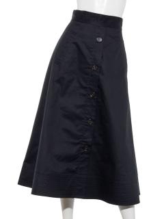 ストレッチチノ ミディーフレアトレンチスカート