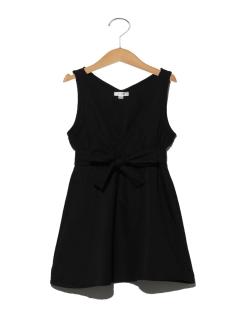 【100~130cm】ウエストリボンジャンパースカート