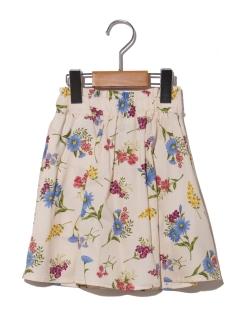 【100~130cm】ボタニカルプリントボリュームスカート