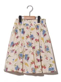 【140~150cm】ボタニカルプリントボリュームスカート
