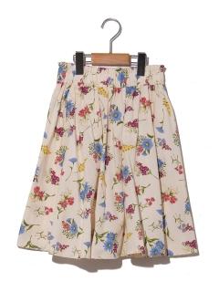【160cm】ボタニカルプリントボリュームスカート