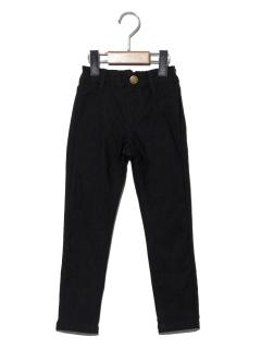 【100~130cm】リボンポケットストレッチスキニーパンツ
