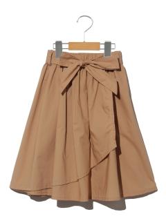 【100~120cm】ウェストリボンラップスカート