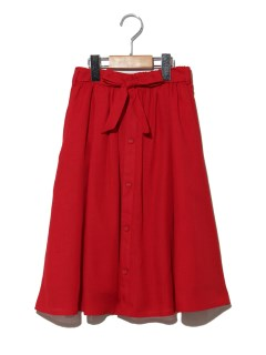 フロントボタンミディタケスカート