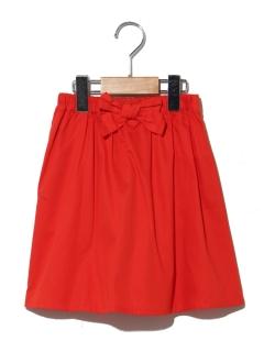 ウェストリボンカラースカート