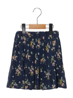 【100cm】フラワープリントプリーツスカート