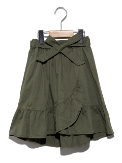 ウェストリボンフリルラップスカート