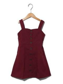 【100~130cm】フロントボタンジャンパースカート