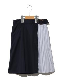 【160cm】ミックスストライプスカート