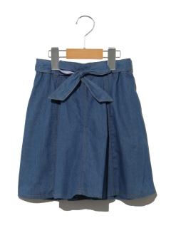 【140cm】リバーシブルベルトインパンツキデニムスカート
