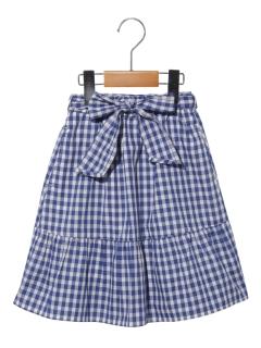 ギンガムチェックミディスカート