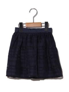 【100~130cm】シアーチェックフレアスカート