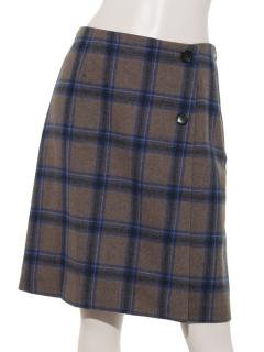 チェックトラペーズスカート