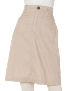 前ポケット膝丈スカート