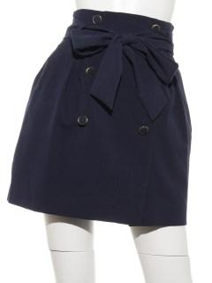 フロントボタンAラインスカート