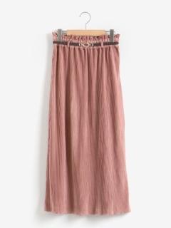 ゴムベルト付きウェーブスカート