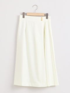 サイドプリーツラップ風スカート