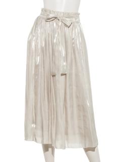 シフォンラメスカート