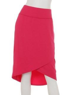 DMW1ジャージー巻きタイトスカート