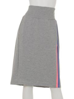 DMW3サイドラインスエットタイトスカート