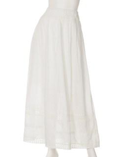 PJ裾レースギャザースカート