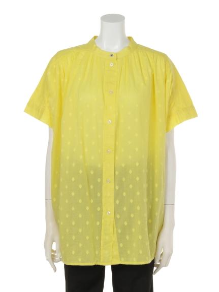 UNITED COLORS OF BENETTON (ユナイテッドカラーズオブベネトン) DDF3ドットマオカラーシャツ イエロー