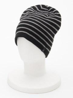 Stripe Reversible Beanie BLACK