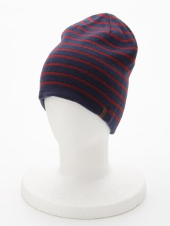 Stripe Reversible Beanie PEACO