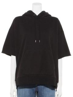 Short Sleeve Logo Sweatshirt Hoodie