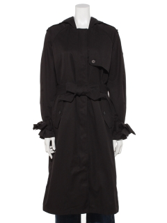 Water Repellent Relaxed Long Trench