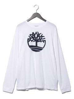 LS Tree Logo Ringer Tee White
