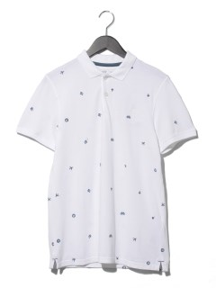 AF SS Embroidery Polo WHITE