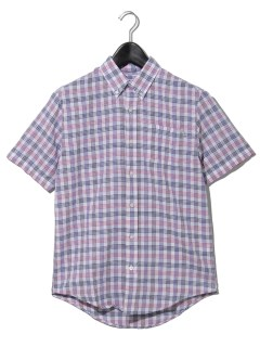 AF SS T-R linen check RF STRAW