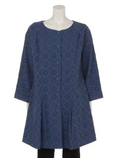 菱型シフリー刺繍コート