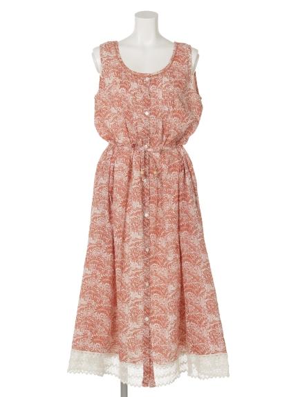 FANAKA (ファナカ) ノースリーブドレス サーモンピンク