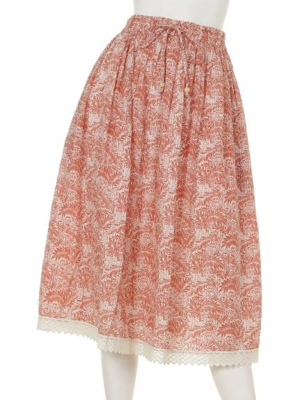 FANAKA (ファナカ) ギャザースカート サーモンピンク