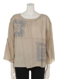 バンダナ刺繍配色ステッチプルオーバー