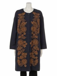 チェーン刺繍コート