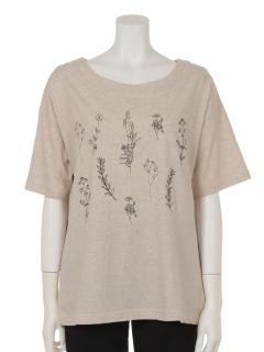 ボタニカル刺繍プルオーバー