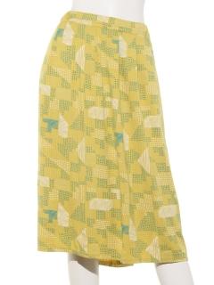 モザイク柄プリントスカート