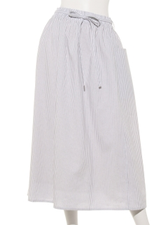 綿麻ストライプスカート