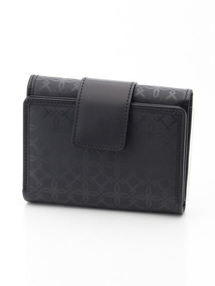 ANNA BIANCHI (アンナビアンキ) 【日本製】三つ折り短財布 ブラック