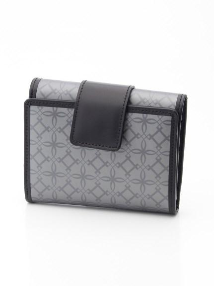 ANNA BIANCHI (アンナビアンキ) 【日本製】三つ折り短財布 シルバー