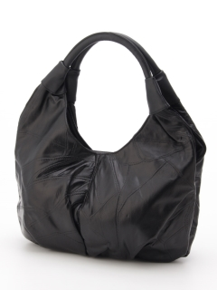 ラム革パッチワークハンドバッグ